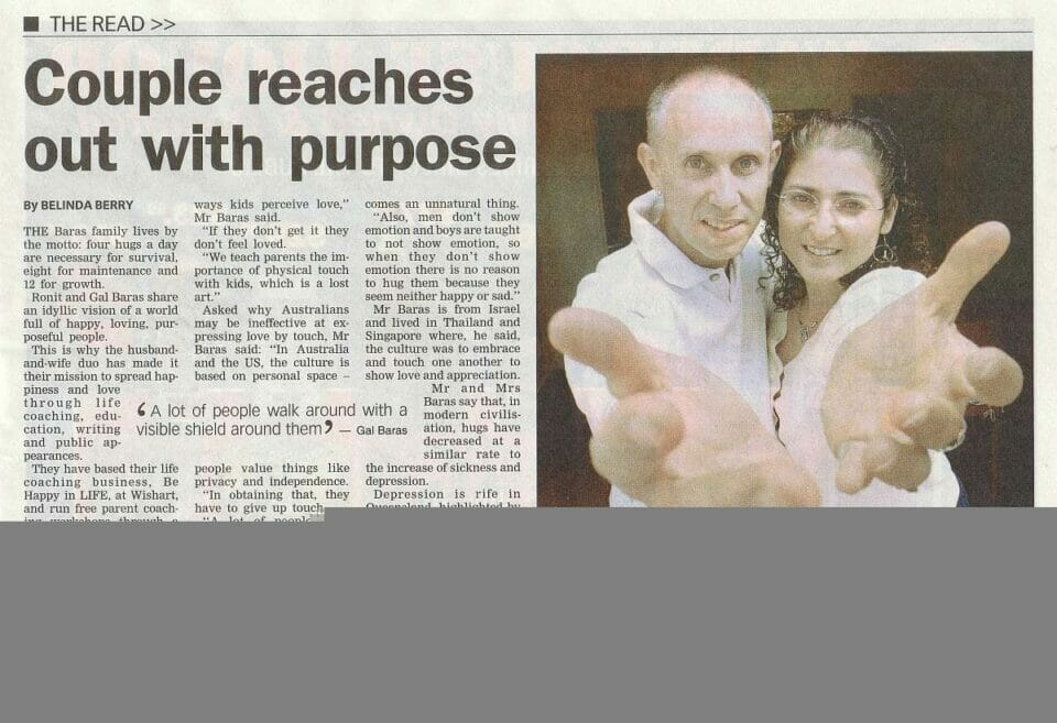 Local Paper article: Couple reaches out with purpose