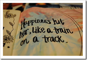 Happiness hit her, like a train on a track