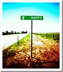 Happy road sign