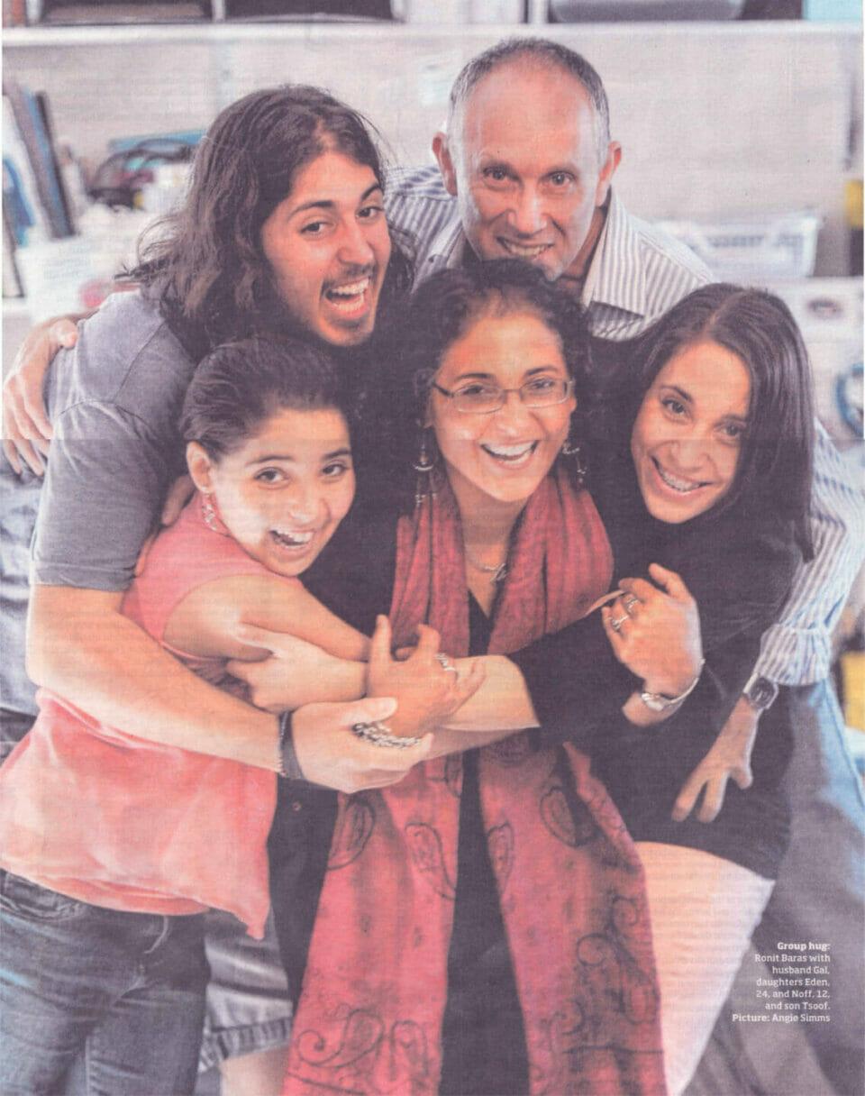 The happy Baras family