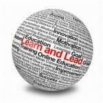 Learn and Lead written on a globe