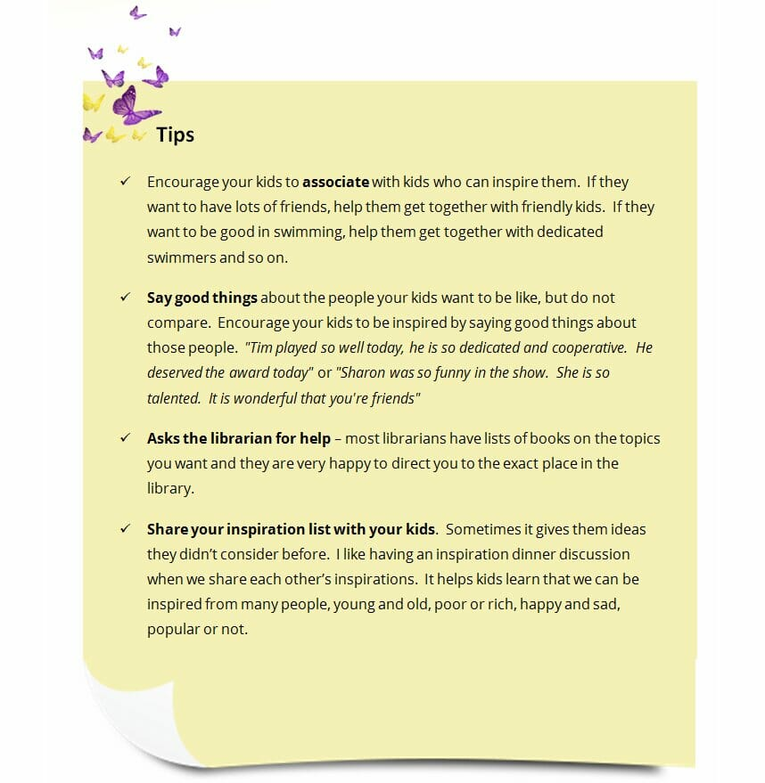 Tips Block from the Motivating Kids gentle parenting book