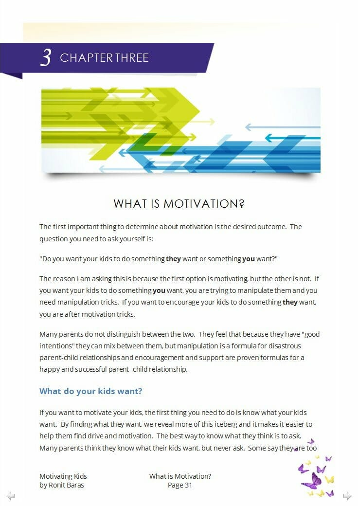 What Is Motivation Chapter from the Motivating Kids parenting book