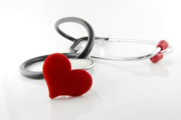 Stethoscope with the end shaped as a heart