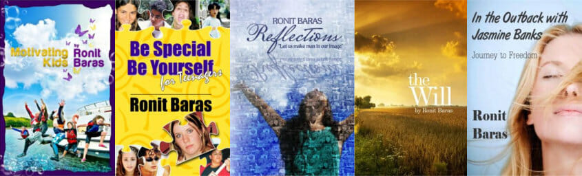 Books by Ronit Baras published by Be Happy in LIFE