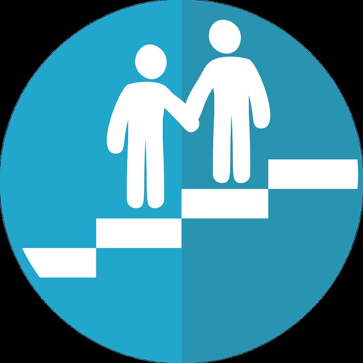 Lending a hand - symbol for mentoring