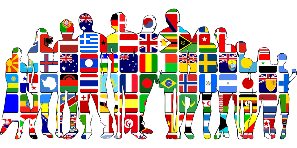 People made from country flags